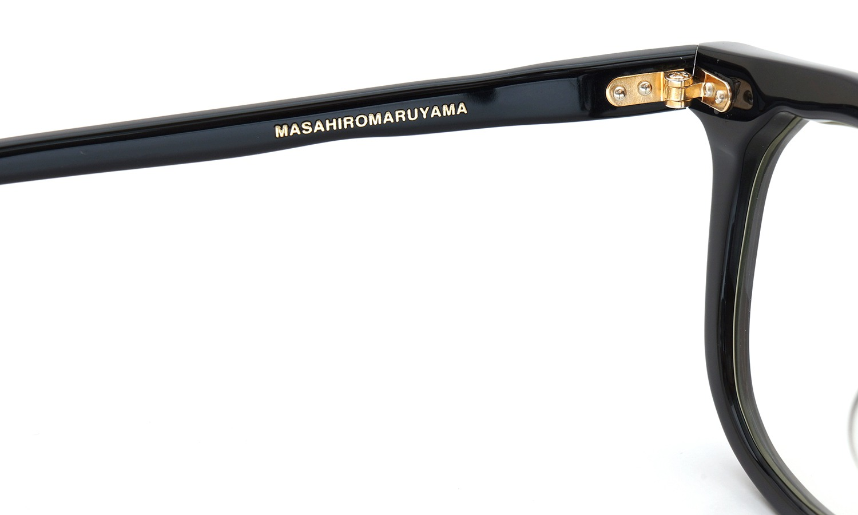 MASAHIROMARUYAMA  2015年秋冬 新作メガネ MM-0025 col.1 BLACK 9