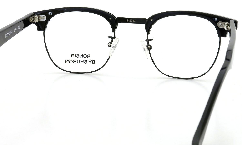 SHURON シュロン メガネ RONSIR ロンサー ZYL Black/Black 46-22