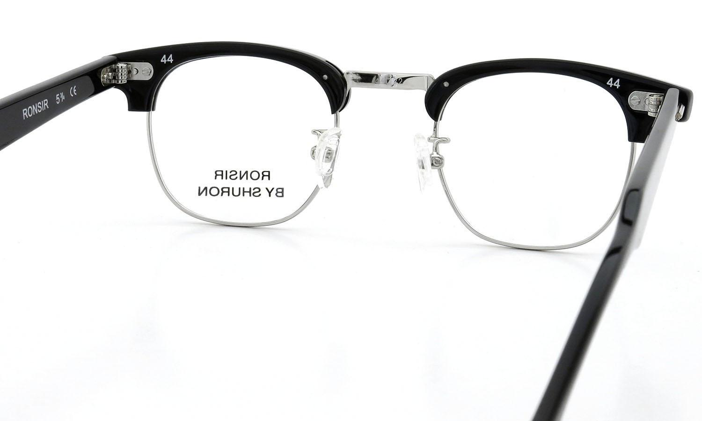 SHURON シュロン メガネ RONSIR ロンサー ZYL Black/Silver 44-22