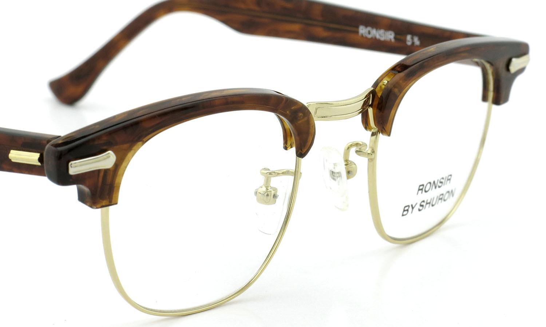 SHURON シュロン メガネ RONSIR ロンサー ZYL Tortoise/Gold 44-22