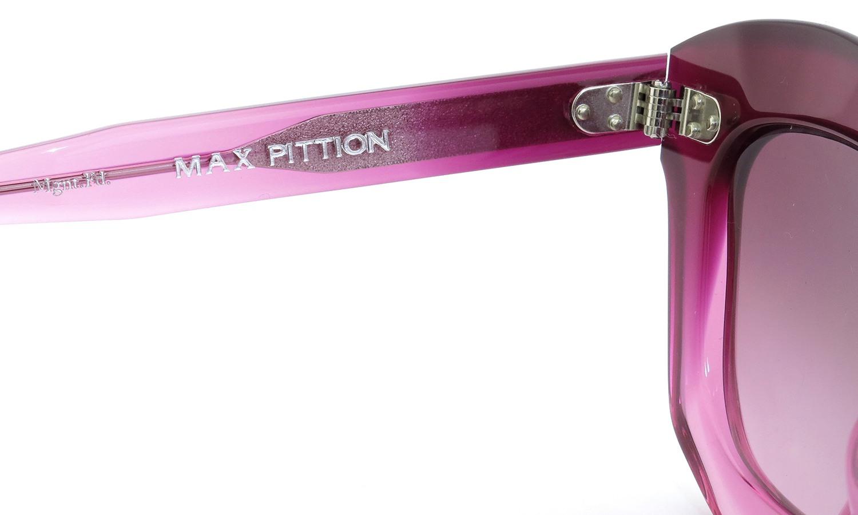 MAX PITTION マックス・ピティオン メガネ Politician ポリティシャン 46size Mgnt.Fd. Lense:Ruby-Grad