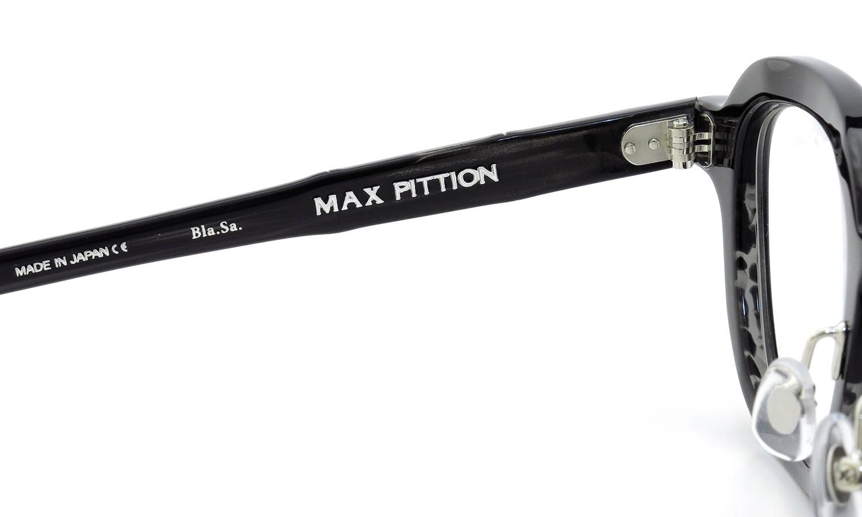 MAX PITTION マックス・ピティオン メガネ [MAP COLLECTION] Bronson ブロンソン 44size Bla.Sa.