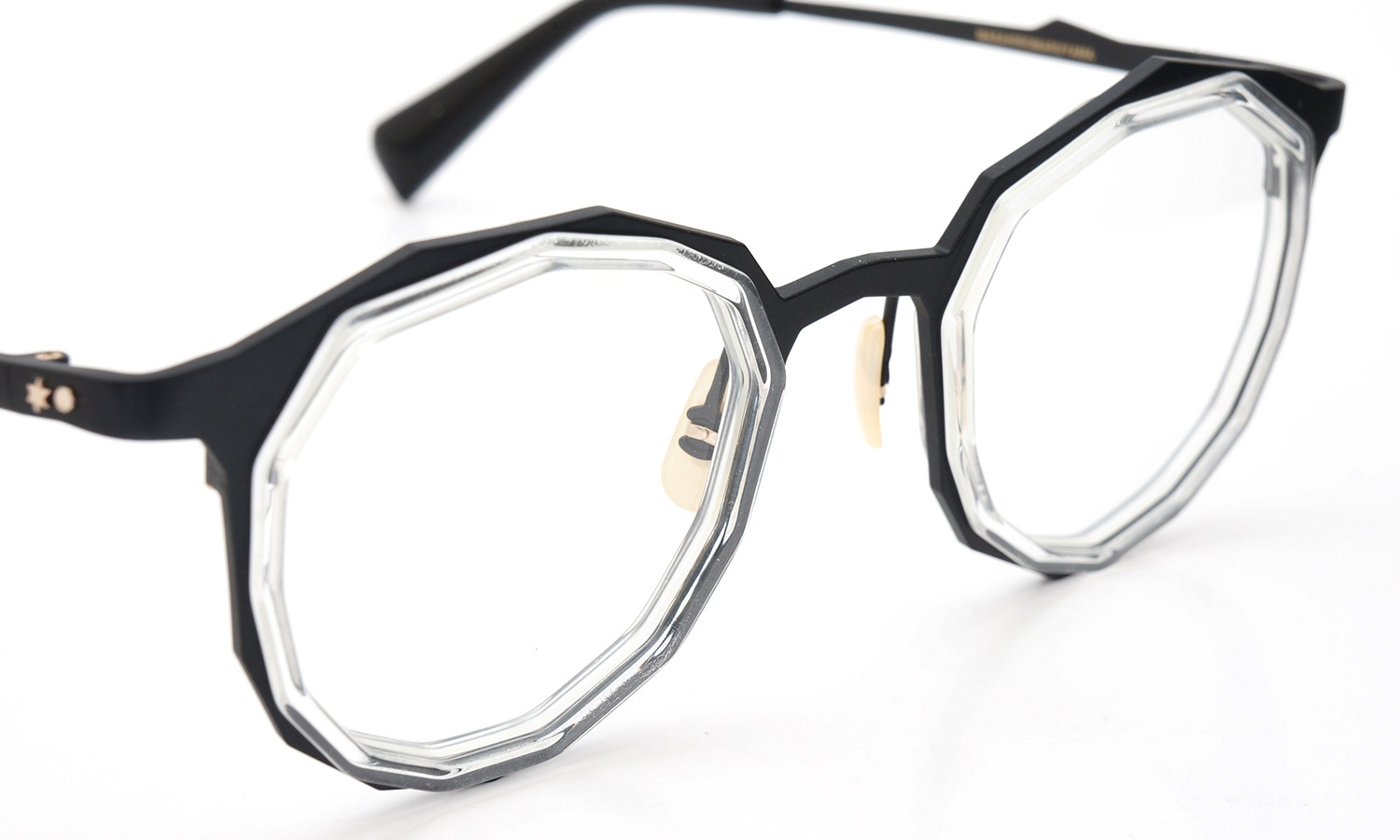 MASAHIROMARUYAMA MM-0019 col.7 BLACK/CLEAR (straight)