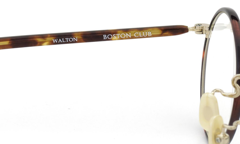 BOSTON CLUB ボストンクラブ メガネ WALTON col.5 トートイズ/ゴールド