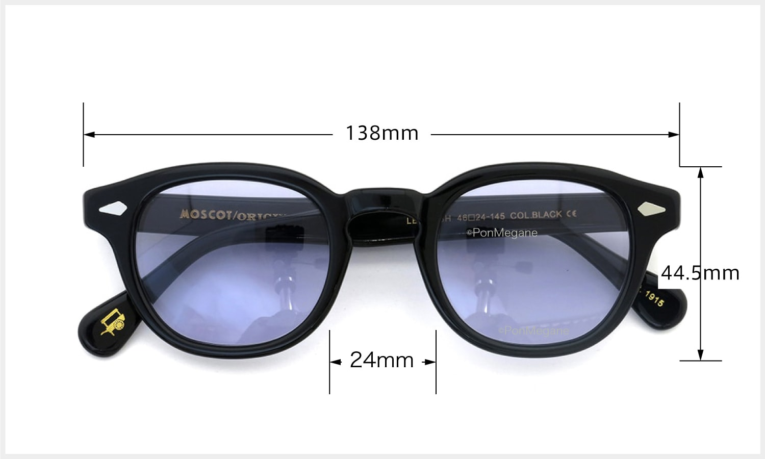 MOSCOT LEMTOSH BLACK 46 パープル