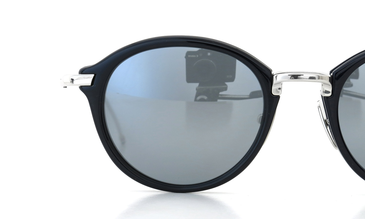 THOM BROWNE. サングラス TB-011-H-T 49size NVY-SLV