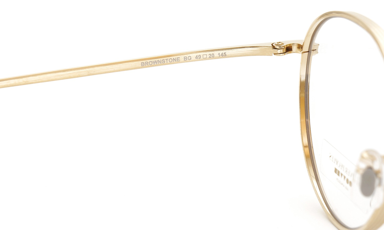 OLIVER PEOPLES × THE ROW メガネ BROWNSTONE col.BG 4
