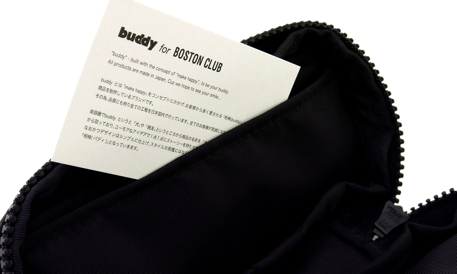 buddy for BOSTON CLUB メガネケース AC-16SS Black