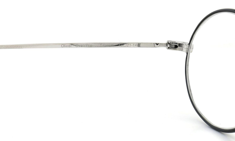 Oliver Goldsmith  ジョンレノン愛用のメガネ Oval/Pro Titanium Silver BK