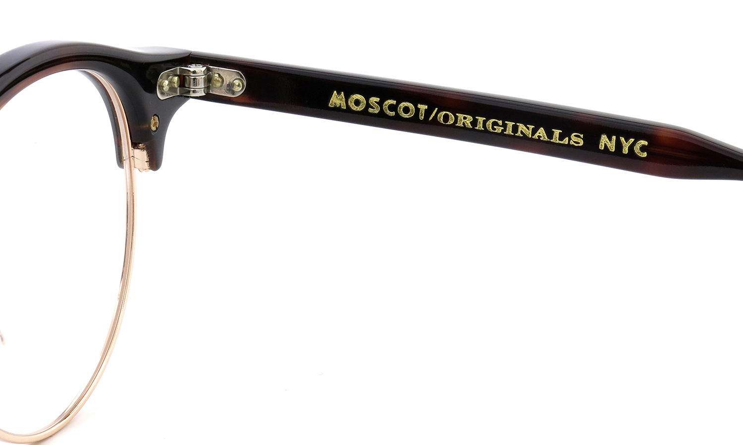 MOSCOT AIDEN col.BURNT TORTO/GOLD 46