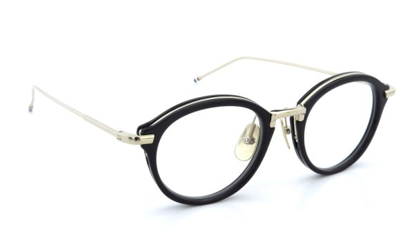 THOM BROWNE.  NEW YORK(トムブラウンニューヨーク)メガネ TB-011A 46size BLACK/SHINY 12K GOLD BRIDGE&TEMPLES 1