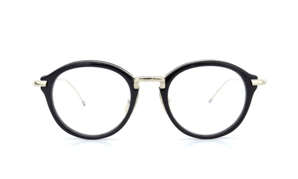 THOM BROWNE.  NEW YORK(トムブラウンニューヨーク)メガネ TB-011A 46size BLACK/SHINY 12K GOLD BRIDGE&TEMPLES 2