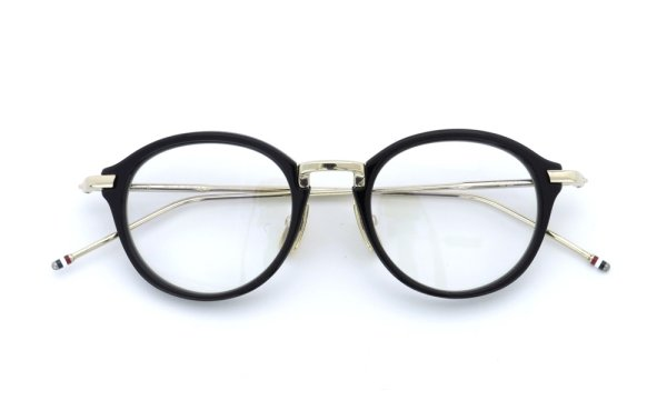 THOM BROWNE.  NEW YORK(トムブラウンニューヨーク)メガネ TB-011A 46size BLACK/SHINY 12K GOLD BRIDGE&TEMPLES 4