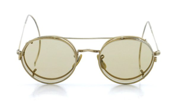 画像1: American Optical アメリカンオプティカル vintage ヴィンテージ GFメガネ+クリップオン