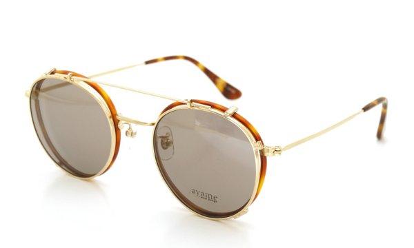 画像1: ayame アヤメ メガネ+クリップオンサングラス セット