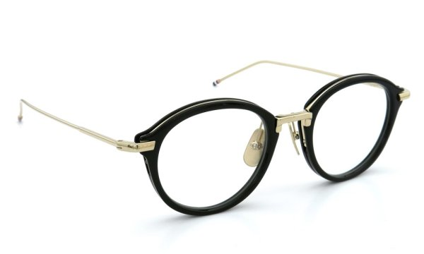 THOM BROWNE.  NEW YORK(トムブラウンニューヨーク)メガネ TB-011-A 49size BLACK/SHINY 12K GOLD BRIDGE&TEMPLES 1