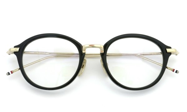 THOM BROWNE.  NEW YORK(トムブラウンニューヨーク)メガネ TB-011-A 49size BLACK/SHINY 12K GOLD BRIDGE&TEMPLES 4