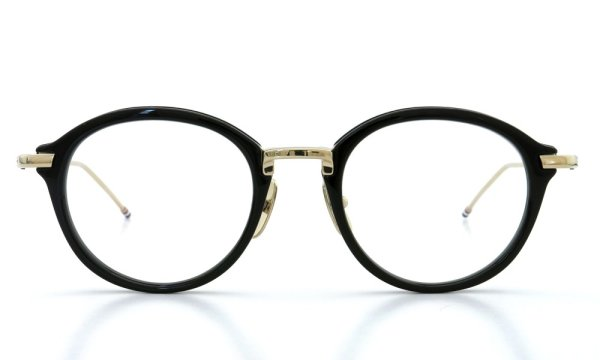 THOM BROWNE.  NEW YORK(トムブラウンニューヨーク)メガネ TB-011-A 49size BLACK/SHINY 12K GOLD BRIDGE&TEMPLES 2