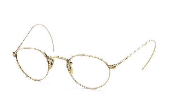 American Optical アメリカン オプティカル vintage ヴィンテージ メガネ 1930年代 PANTO FUL-VUE MARSHWOOD 1/10 12kGF 39-22 ナナメ