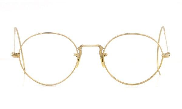 American vintage アメリカン ヴィンテージ メガネ 1930年代 ROUND DECO MASHWOOD CENTER-POINT 45-20 正面