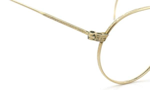 American Optical アメリカン オプティカル vintage ヴィンテージ メガネ 1930年代 PANTO FUL-VUE MARSHWOOD 1/10 12kGF 39-22 ディテール