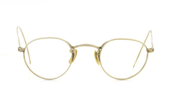 American Optical アメリカン オプティカル vintage ヴィンテージ メガネ 1930年代 PANTO FUL-VUE MARSHWOOD 1/10 12kGF 39-22 正面