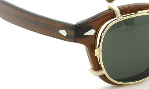 MOSCOT LEMTOSH Col.BROWN 44size + clip GOLD