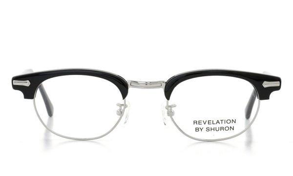SHURON シュロン メガネ REVELATION レヴェレーション Black/ Silver 48-22