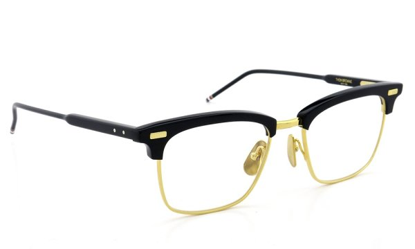 THOM BROWNE. TB-711-C NVY-18kGLD 52size