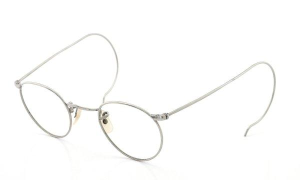 ENGLAND (Savile Row)Vintage イングランド サヴィルロウ ヴィンテージ 推定1940年代 メガネ ALGHA WORKS OPTICAL PANTO NUDE-PAD col.Silver