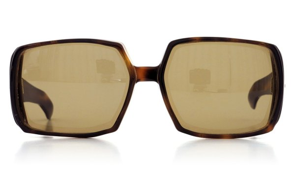 推定1950年代 THREE DOTS BIG SQUARE FRAME 63-17 DEMI
