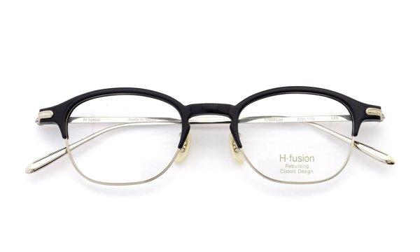H-fusion エイチフュージョン 2016年春夏 新作メガネ HF-123 Col.1G (black / gold)