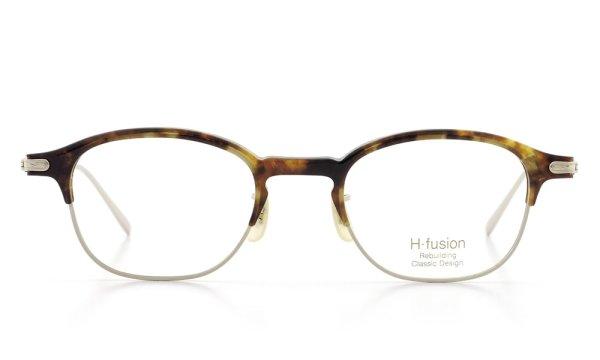 H-fusion エイチフュージョン 2016年春夏 新作メガネ HF-123 Col.65 (havana brown / gold)