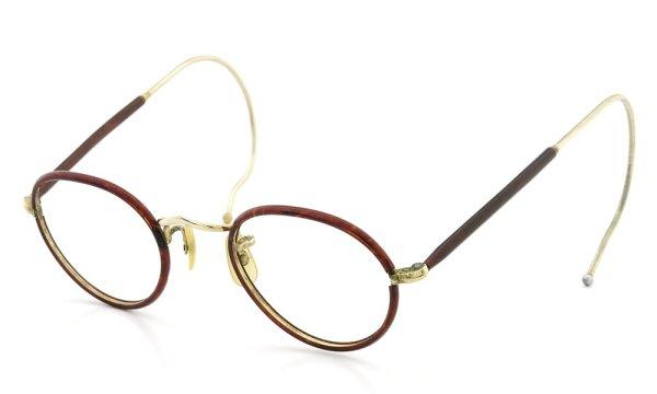 ALGHA WORKS(SAVIL ROW) vintage メガネ Panto Chestnut/Gold 42-22