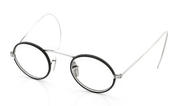 American Optical vintage 1920年代 KENILWORTH Celluloid-Coverd White gold filled CENTER-POINT with 14K solid gold pads