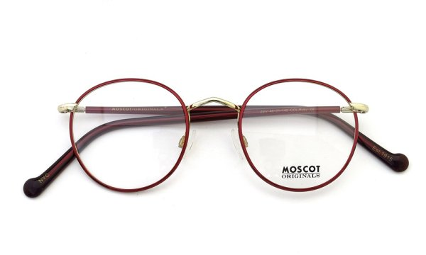 MOSCOT メガネ ZEV 46size Col.Ruby/Gold