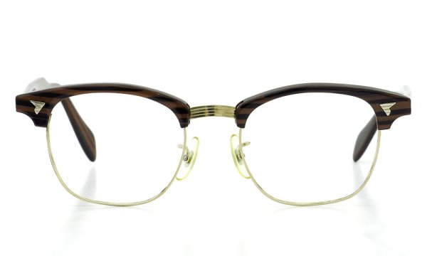 American Optical vintage MARCOM-X type:2 ウイング鋲 Wood/Gold 48-20