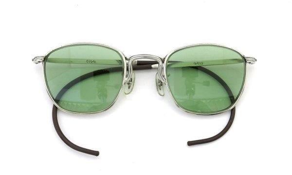 American Optical vintage AVIATOR WELLINTON with IRIGINAL GREEN GLASS LENS 46-22