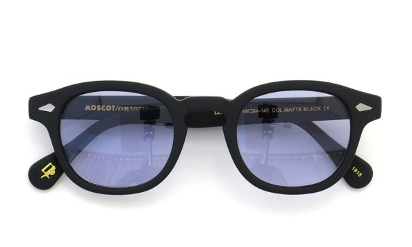 MOSCOT LEMTOSH MATTE-BLACK 46size Light-Purple-Lense