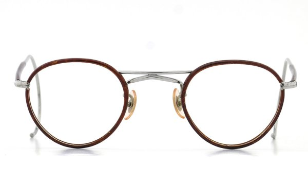 1930s-1940s BRITISH AMERICAN OPTICAL DOUBLE-BRIDGE Silver/Chestnut