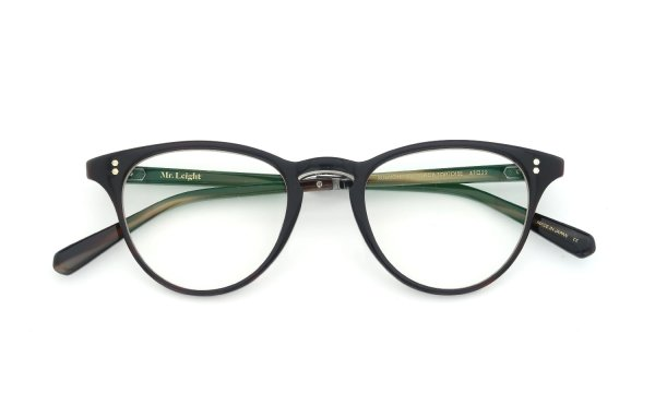 Mr.Leight RUNYON C BLACK TORTOISE 47size