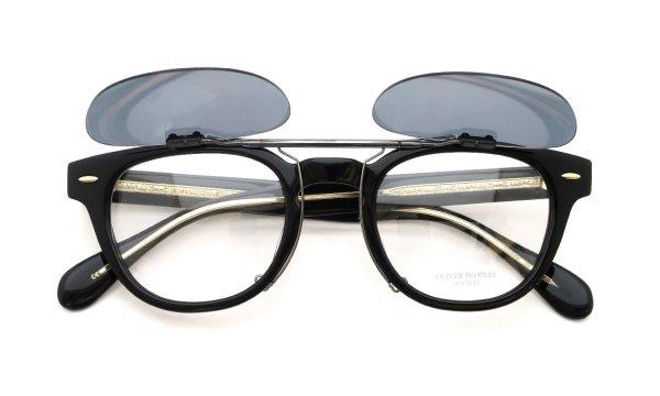 OLIVER PEOPLES Sheldrake専用 ポンメガネオリジナル跳ね上げ式クリップオンサングラス