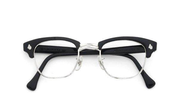 American Optical Vintage 1960s Brow Combination AO鋲 Black/Silver 46-22
