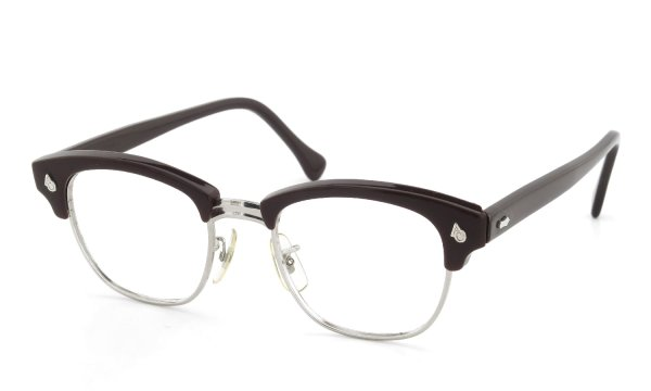 American Optical Vintage 1960s Brow Combination AO鋲 Brown/Silver 48-20