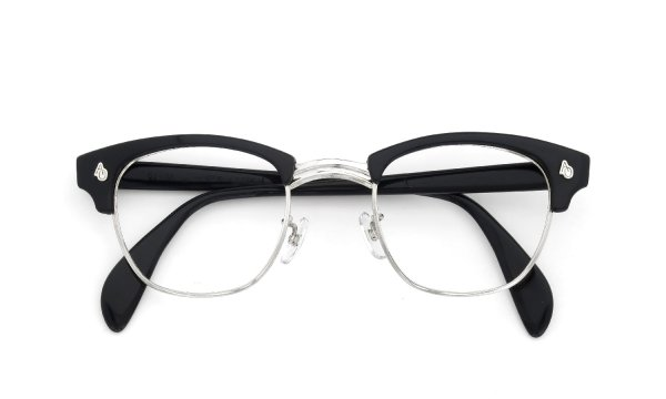 American Optical Vintage 1960s Brow Combination AO鋲 Black/Silver 48-24
