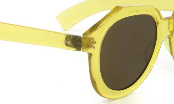 FRANCE Vintage 1940s-1950s PAPILLON CRYSTAL-YELLOW BROWN-LENS 49-23