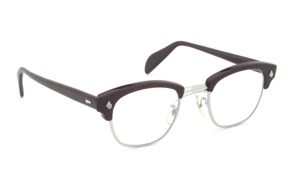 American Optical Vintage 1960s Brow Combination AO鋲 Brown/Silver 48-24