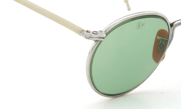 AO 1940s-1950s INDUSTRIAL FUL-VUE PANTO SILVER LIGHT-GREEN-GLASS-LENS 47-23