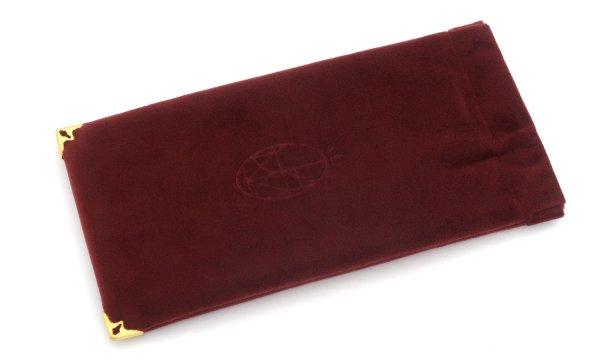 JACQUESMARIEMAGE SOFT POUCH Velvet Burgundy JMM-ACCS-013