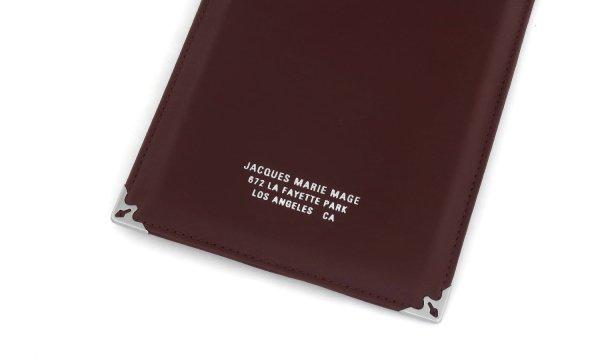 JACQUESMARIEMAGE SOFT POUCH Genuine-Leather Burgundy JMM-ACCS-017